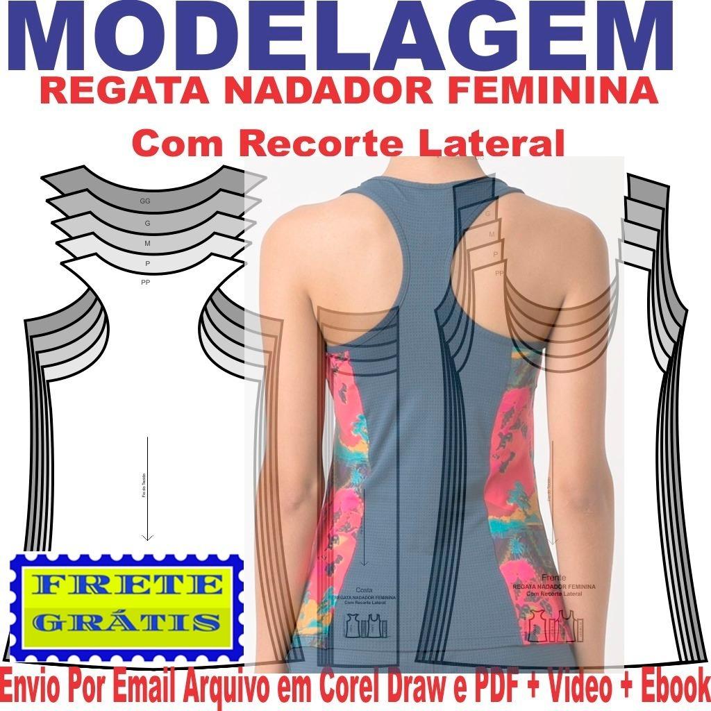 95c8bd08f7 molde modelagem regata nadador feminina recorte lateral. Carregando zoom.