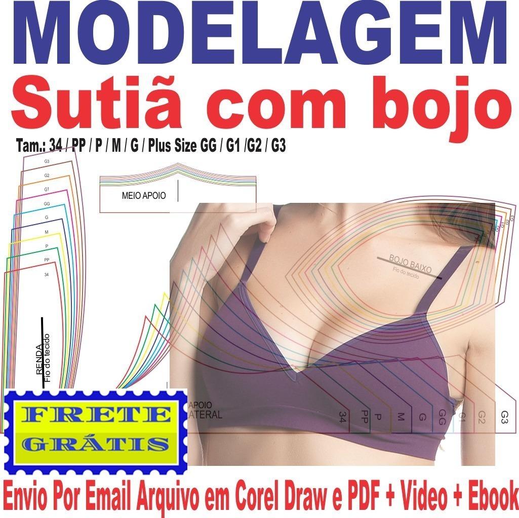541de7d6c Molde Modelagem Sutiã Com Bolo Pp Ao G3 - R  17