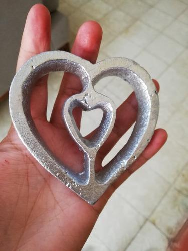 molde para buñuelo de viento modelo corazon doble