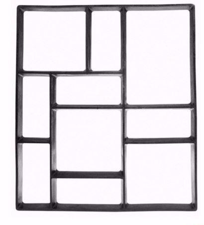Molde para cemento rectangular 43x45cm en - Moldes de cemento ...