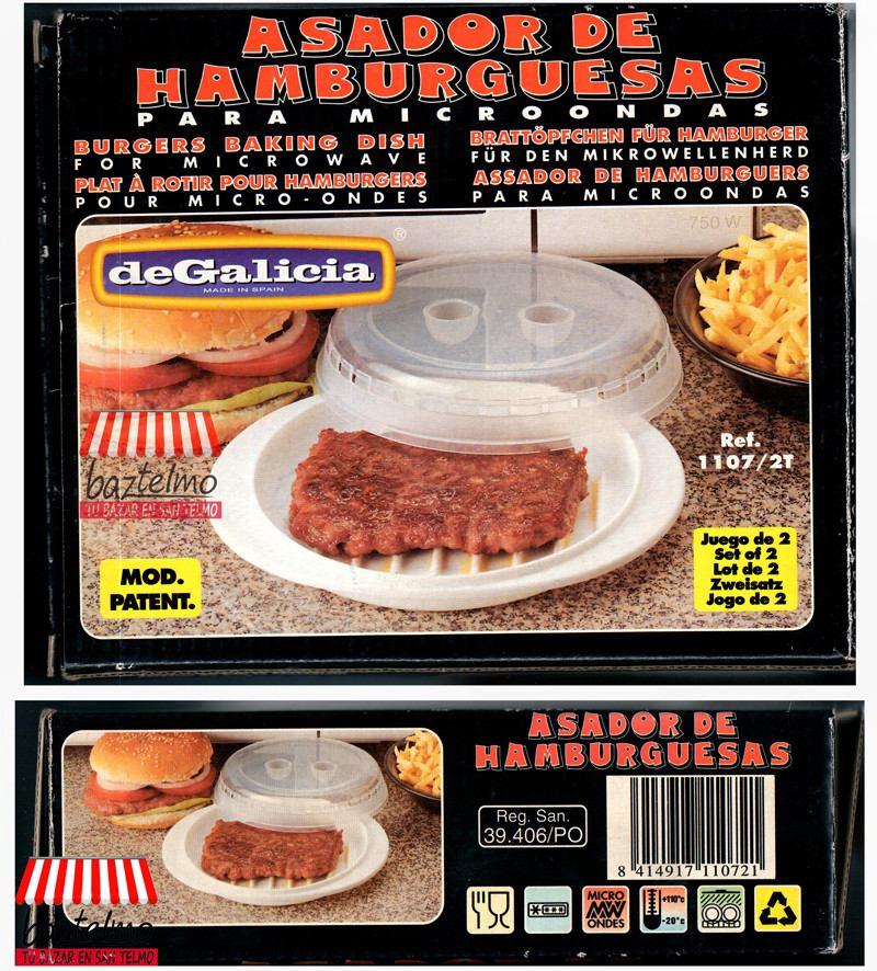 Molde Para Cocinar Hamburguesas Microondas Imp Spain Envios 119