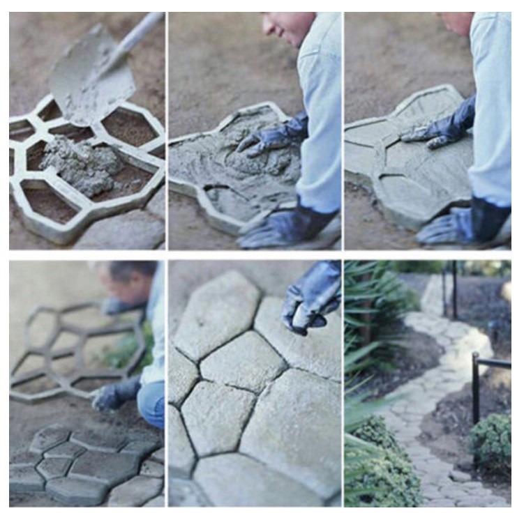 Molde para concreto sendero piso camino banqueta jardin for Molde para cemento
