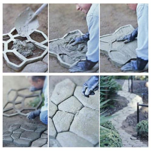 Molde para concreto sendero piso camino banqueta jardin msi ...