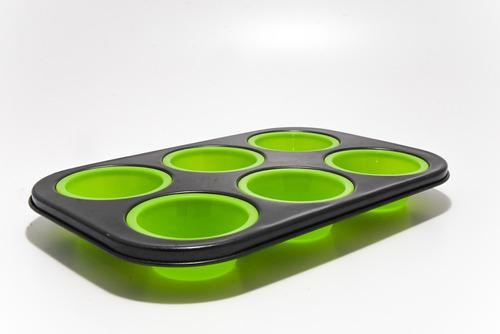 molde para cupcake de silicona teflón muffins antiadherente