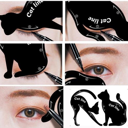 molde para fazer delineado pefeito olho de gato lindo