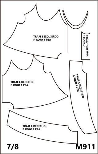 molde para fieltro de  santa closs de  58.cm x 86 cm