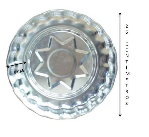molde para gelatina 26 cm de  aluminio 2 pz incluye envío