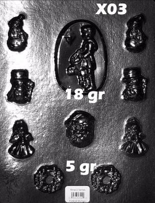molde para gomitas chocolate caramelo navidad en acetato