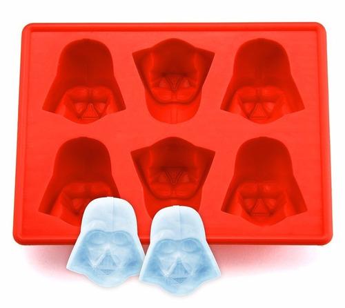 molde para hielo de darth vader, r2d2 y stormt - star wars