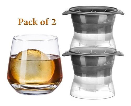 molde para hielo set x 2 hielos esfericos whisky