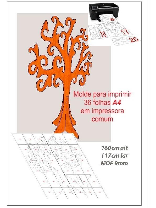 Molde Para Imprimir Arvore Recortada Decoracao Mdf 0133 R 19 98