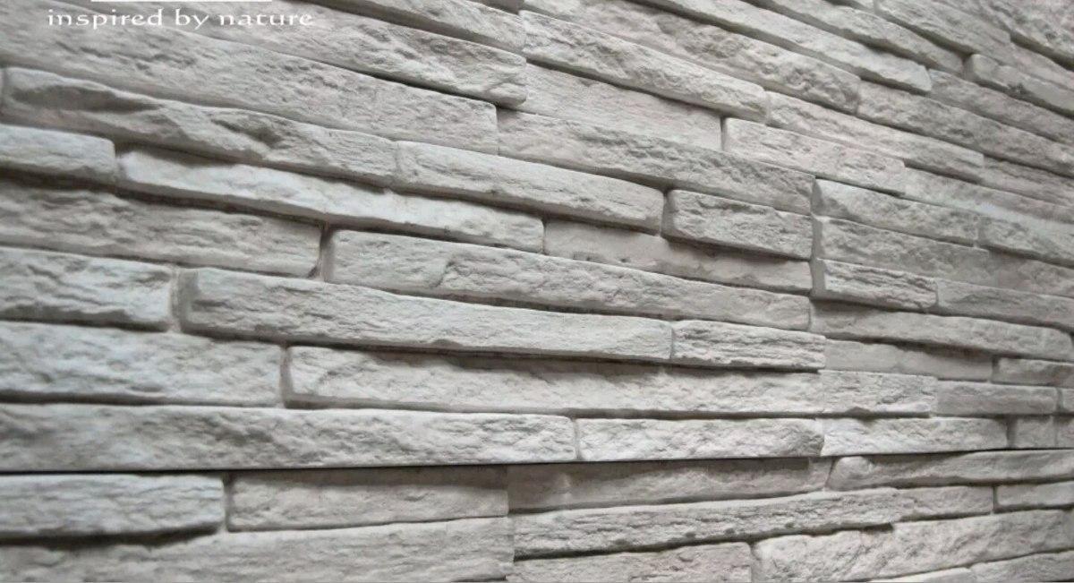 Molde para pared de dise o piedra cultivada yeso o for Molde para cemento