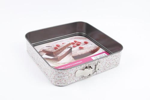 molde para pastel desmontable cuadrado