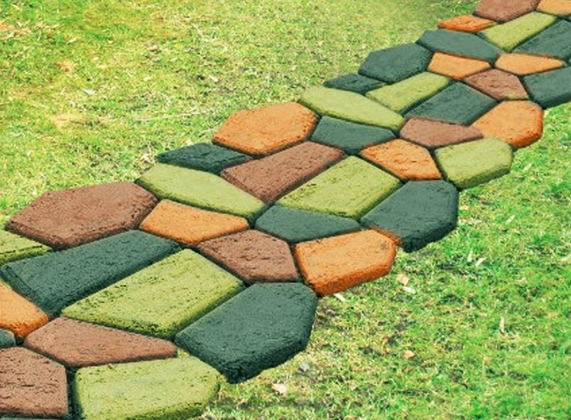 Molde para senderos de jard n 43x43cm en for Baldosas para el jardin