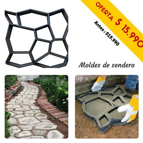 molde para senderos de jardín 50x50cm  rebajado