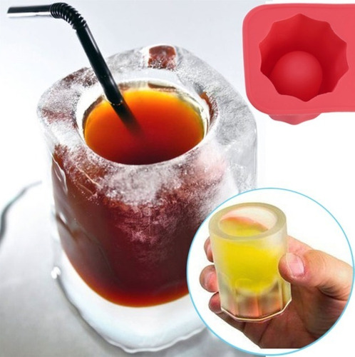 molde para shots de hielo gelatina glass caballito tequila