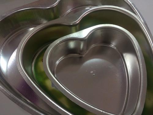 molde para torta de aluminio  forma de corazon num. 1,2,3,4