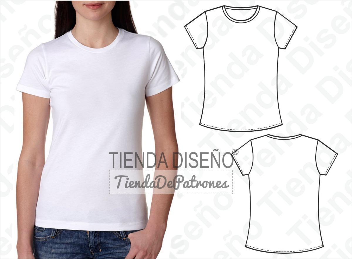 molde patron imprimible camiseta basica mujer talle xs a 2xl. Cargando zoom. acd9533b2713f