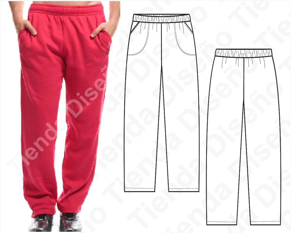 Molde Patron Imprimible Pantalon Jogging Hombre S Al 2xl - $ 50,00 ...