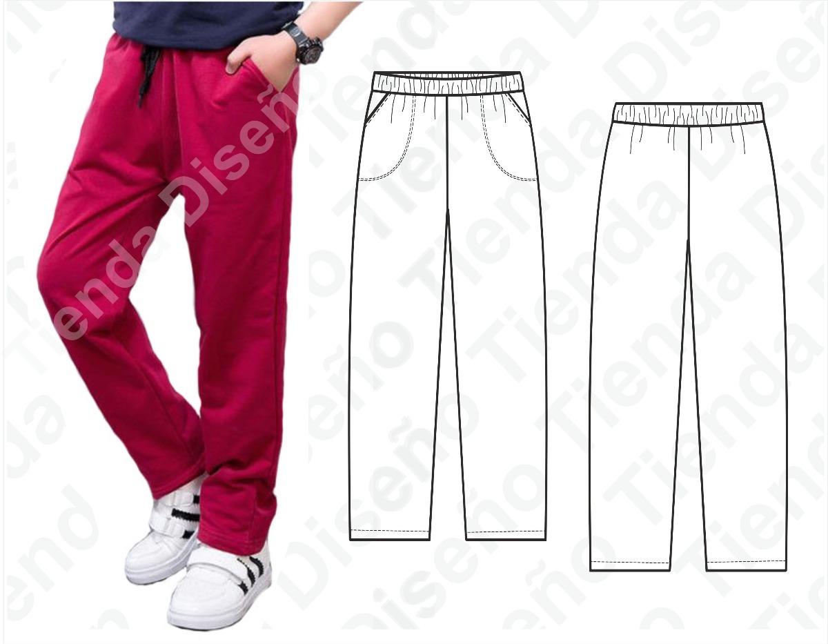 87004a3a1 molde patron imprimible pantalon jogging niños talles 6 a 14. Cargando zoom.