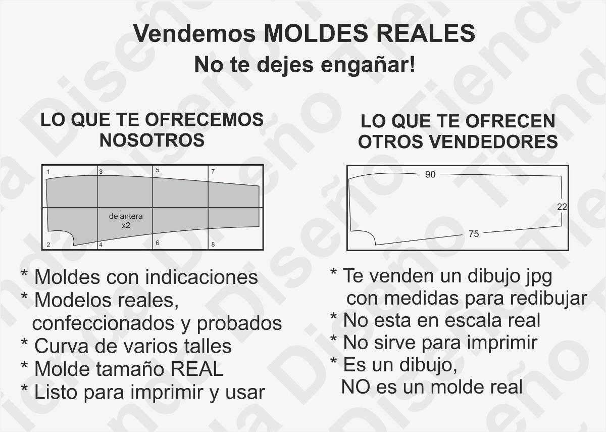 Molde Patrón Imprimible Remera Básica Hombre Del S Al 3xl - $ 50,00 ...