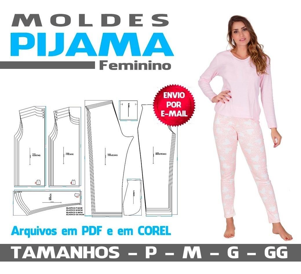 Molde Pijama Feminino Em Corel E Pdf R 18 90 Em Mercado Livre