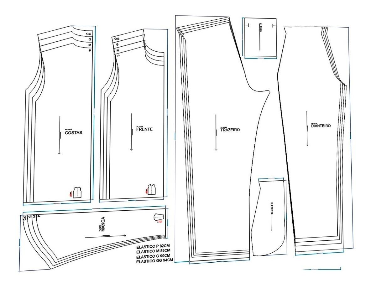 Molde Pijama Masculino Inverno Envio Por Email Pdf E Cdr R