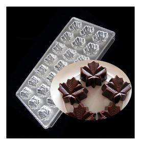 Molde Policarbonato Chocolate Bombon Hoja Arce Canada