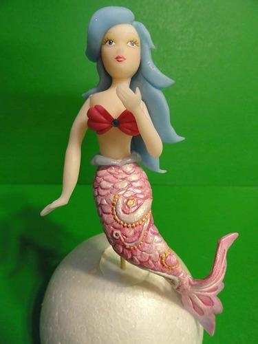 molde princesita o sirenita porcelana fria,pasta de goma.