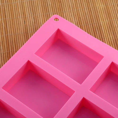 molde rectangular silicon jabon artesanal, pan, chocolate