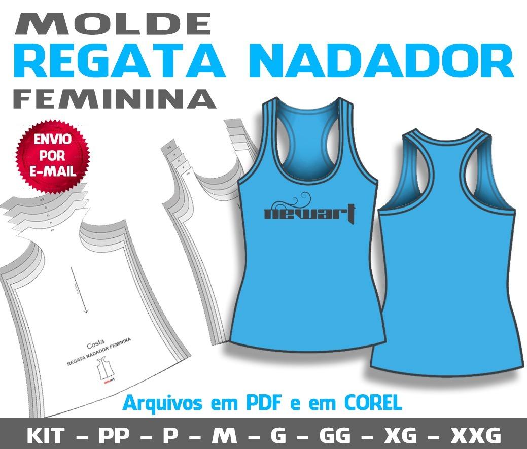 molde regata feminina nadador - pp ao xxg (pdf e cdr). Carregando zoom. 1772d93c10d