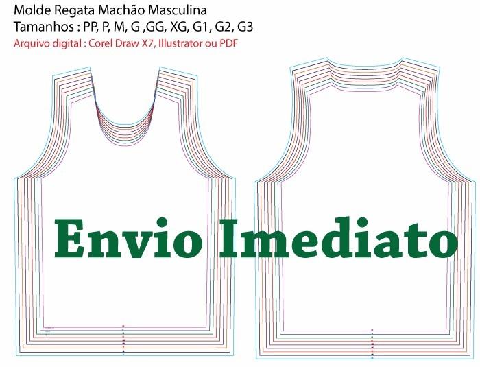 Molde Regata Machao Masculina - Arquivo Digital Il .cdr .pdf - R  40 ... e27a0054d50