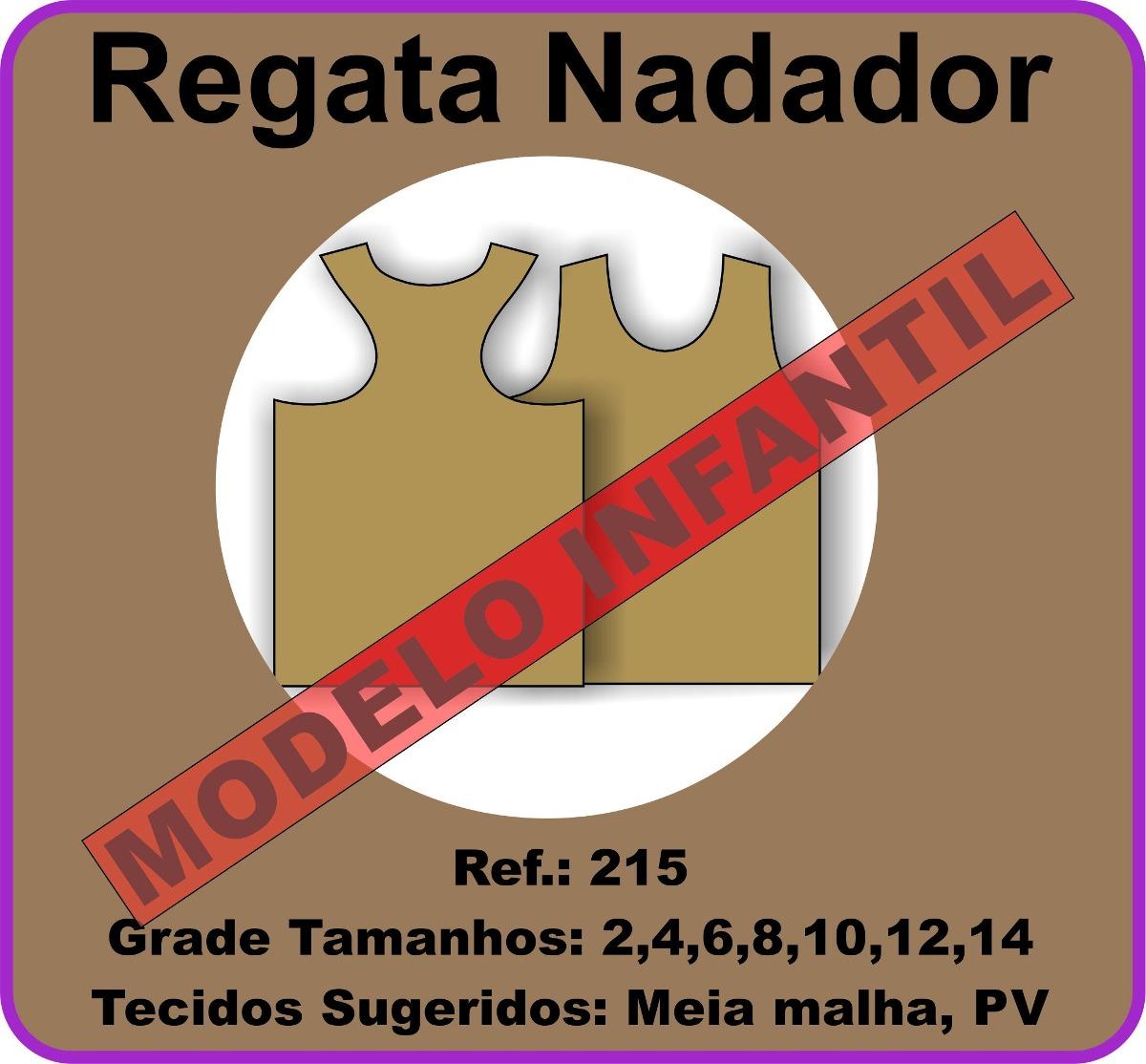 e1fcdab083 Molde Regata Nadador Infantil De 2 A 14 Anos 215 - R  45