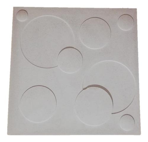 molde revestimiento antihumedad círculos 3d
