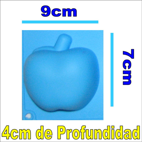 molde silicon 6 ponquesitos manzana apple(9x7x4cm) vela
