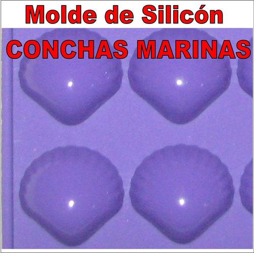 molde silicon bombon chocolate vela arcilla 15 conchas