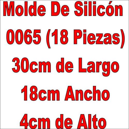 molde silicon bombones chocolate 0065 18pzs  gelatina