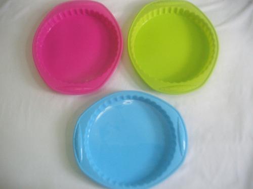 molde silicon circular redondo pie gelatina tartaleta pay