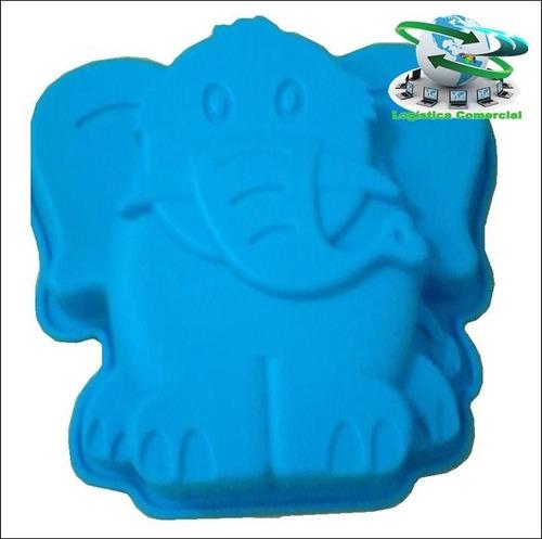 molde silicon elefante para mini ponque quesillo gelatina