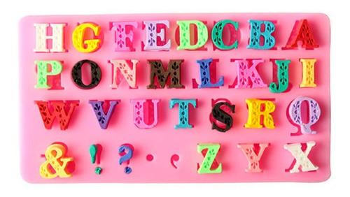 molde silicon fondant alfabeto letras medianas