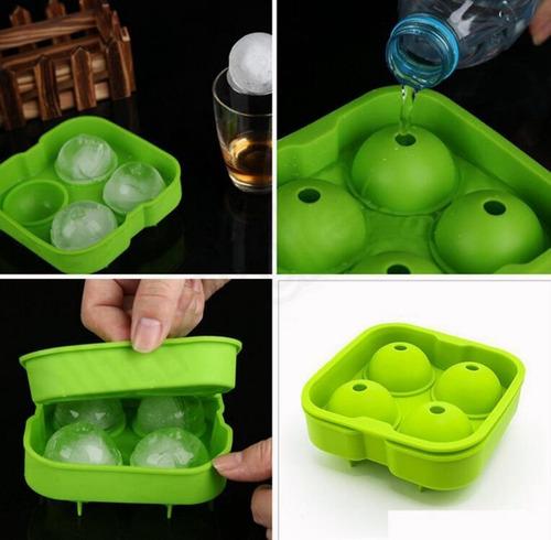 molde silicon forma de esferas para hacer 4 hielos fiesta