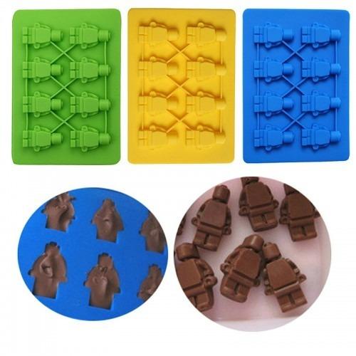 900e0e73c6e0 Molde Silicon Hombre Muñeco Lego Gomitas Hielo Chocolate