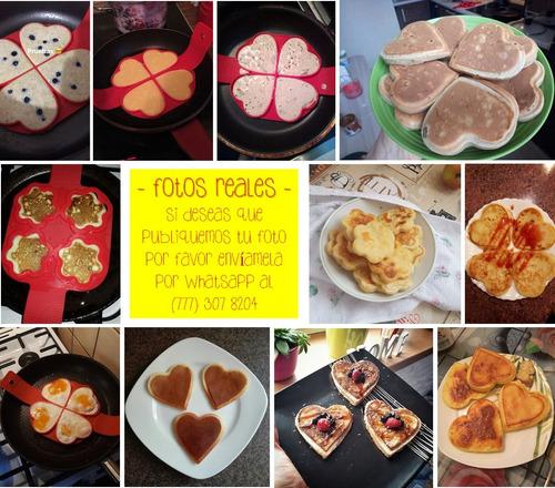 molde silicón hotcakes huevos omelete tipo flippin fantastic