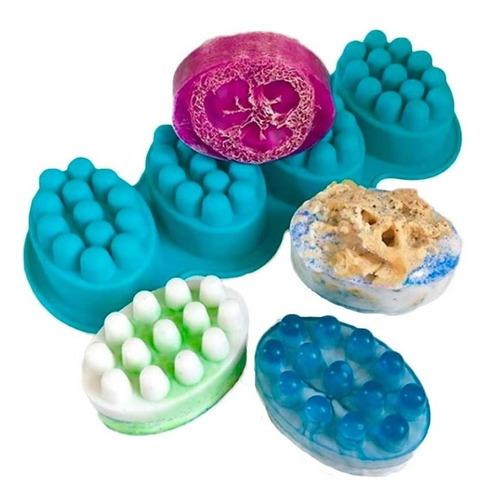 molde silicon jabon artesanal masaje estimulante terapeutico