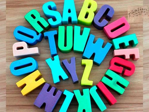 molde silicon letras del abecedario mayusculas - plastilina
