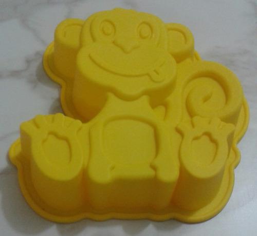 molde silicón modelo mono torta quesillo gelatina