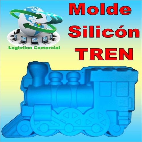 molde silicón modelo tren torta quesillo gelatina y mas