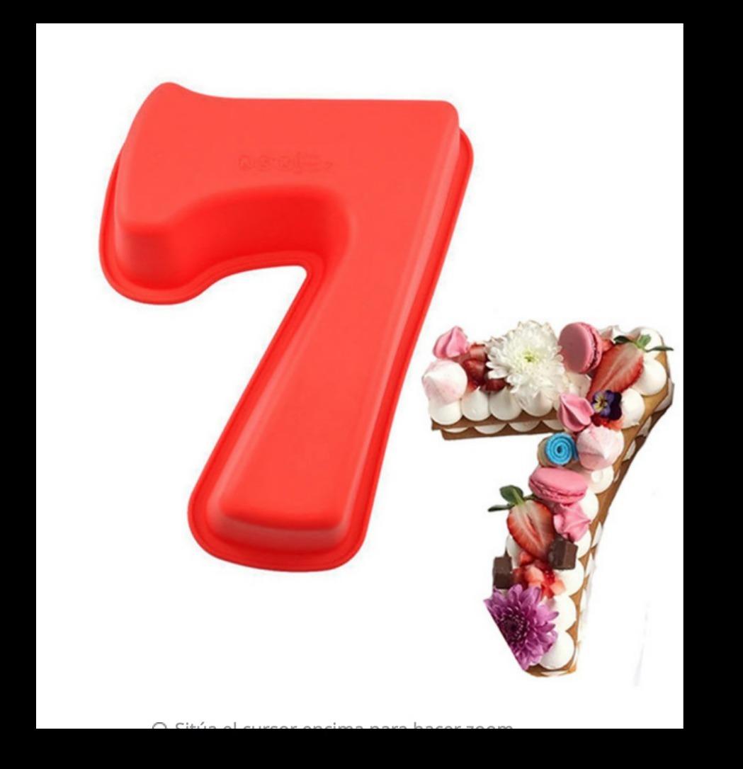 Molde Silicon Número 7 Para Pastel 245 X 165 X 5 Cm 42500 En
