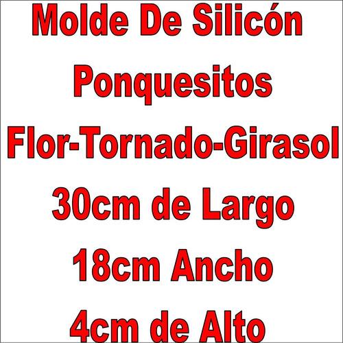 molde silicon ponquesitos flor tornado girasol 7x4cm c/u