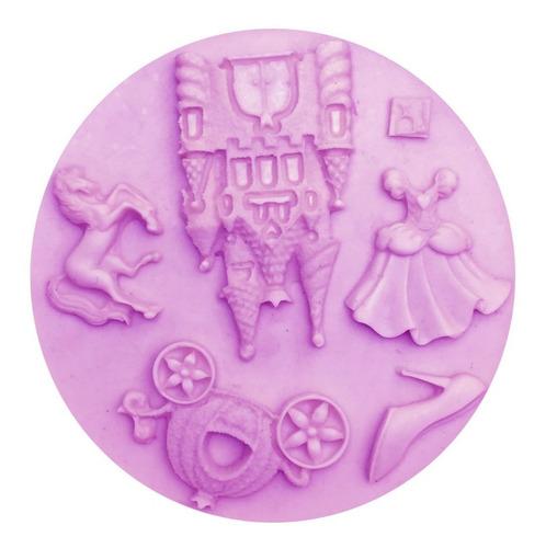 molde silicon princesas 5 figuras para fondant o dulces